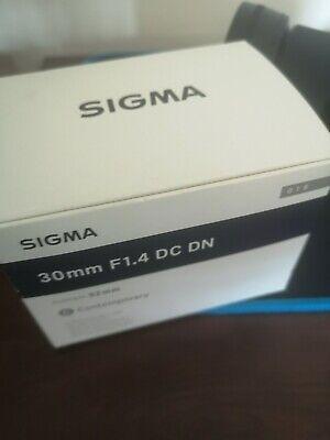 Excellent Condition Sigma 30mm f/1.4 DC DN Contemporary Camera Lens for SONY E