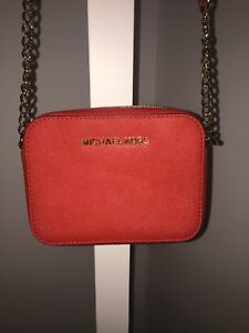 Red Michael Kors Cross Body Bag