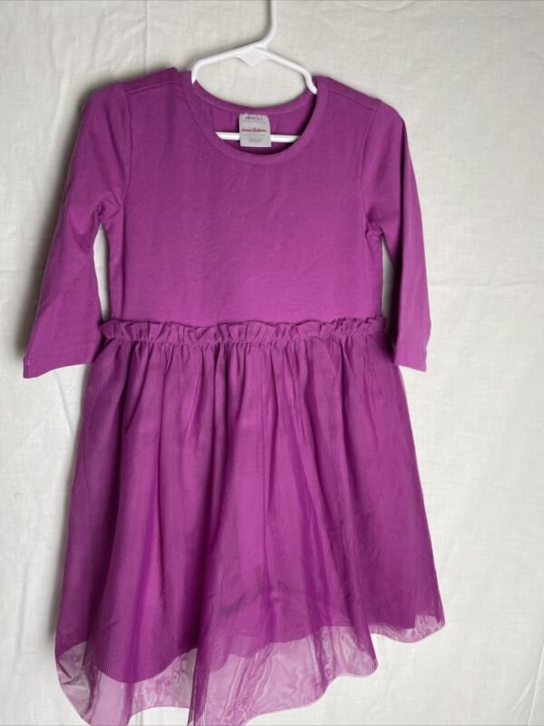 HANNA ANDERSSON SOFT TULLE DRESS PURPLE SIZE 100 4 US NEW WITH TAGS