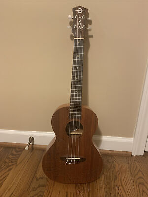 Luna Tenor Ukulele (Tattoo Mahogany) With Case And Added Strap Button
