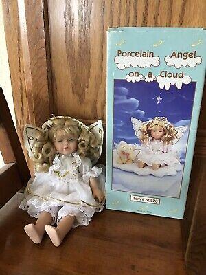 Angel On A Cloud Porcelain Doll
