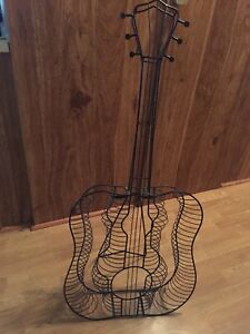 Metal Guitar CD Rack CD Holder Wire Guitar Stand