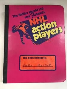 1971-72 The Halifax Herald NHL Action Player Book & photo cards