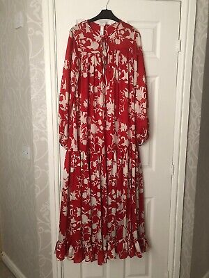 Johanna Ortiz X H&M SOLD OUT Voluminous Satin Dress Size Medium BNWT SS2020
