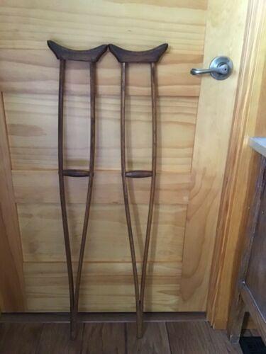 Vintage Antique Wooden Children's Crutches