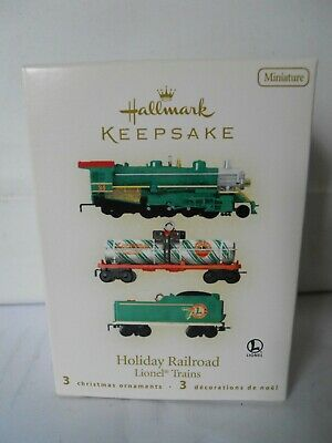 Hallmark LIONEL HOLIDAY RAILROAD ORNAMENTS 2008 Set of 3 Miniature NRFB