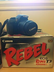 Canon Rebel T3 w/case