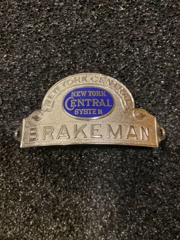 NEW YORK CENTRAL RAILROAD BRAKEMAN HAT BADGE
