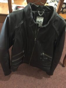 Womens Leather Harley Jacket