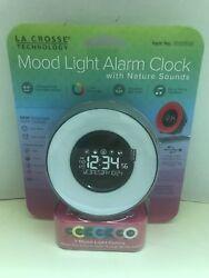 LA CROSSE MOOD LIGHT ALARM CLOCK W/NATURAL SOUNDS MUSIC 7 MOOD COLORS-BRAND NEW