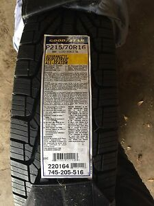 Goodyear triple tread all weather 3 used  3 months, 1 brand new