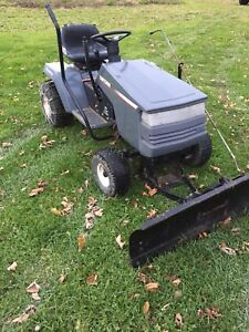 Craftsman lawn tractor with snow plow lower price
