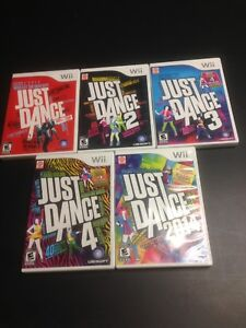 Collection de jeux just dance sur wii