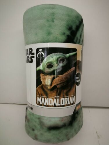 "DISNEY STAR WARS THE MANDALORIAN  BOY GIRL SOFT & WARM 45""X60"" FLEECE THROW NEW"