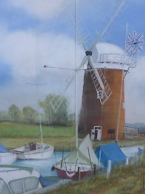 PASTEL HORSEY MILL  ARTIST MARTIN THEAKER FREE SHIPPING TO ENGLAND