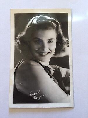 Real Photo Postcard Ingrid Bergman
