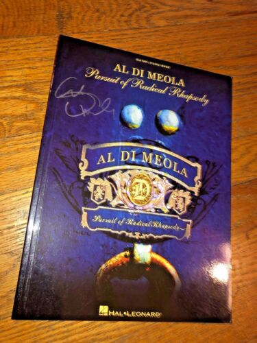 "Al Di Meola ""Pursuit of Radical Rhapsody"" Guitar/Piano/Bass Songbook_Autographed"