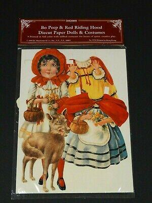 Vintage Bo Peep & Red Riding Hood ~ Diecut Paper Dolls & Costumes ~ - Bo Peep Bonnet