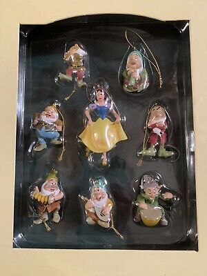 Disney Snow White & Seven Dwarfs Storybook Christmas Ornament Book Set ()