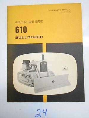 John Deere 610 Bulldozer Operators Owners Manual Om-u12893u