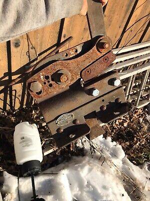 Vintage National Vise Shear Metal Nibbler Shear Cutter Vise Bench Mount Racine