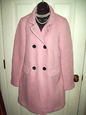 NWT ANN TAYLOR $248 BLUSH PINK LADIES DOUBLE BREASTED TRENCH COAT SIZE SP