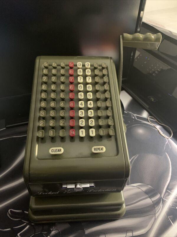 Paymaster Checkwriter Green Vintage