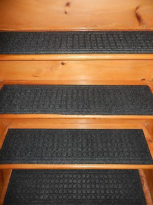 """4=  Steps 8.1/2'' x 35"""" Indoor/Outdoor Stair Treads Step Non-Slip 100% RUBBER ."""