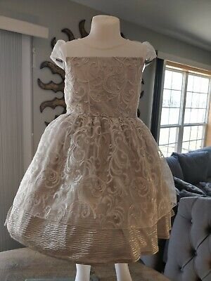 Sweet Heart Rose Easter Party Dress Little Girls' Dress, Size 6X - Silver Little Girl Dresses
