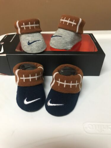 Nike Futura 2 Pair Infant Boys Booties/ Crib Shoes Sz 0/6 mo