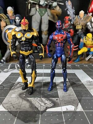 Marvel Universe 3.75 Inch Loose Nova & Spider-Man 2099 Figures