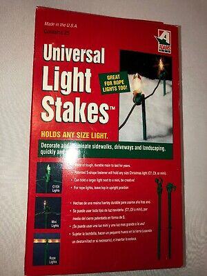 """Adams USA 8.5"""" Universal Holiday Christmas Light Stakes For Yard Pack Of 25 NIB](Christmas Light Yard Stakes)"""