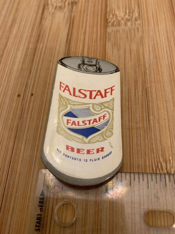 Vintage Falstaff Beer Can Pin Button RARE FREE SHIPPING
