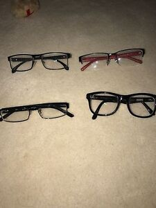 4 pairs of frames for glasses