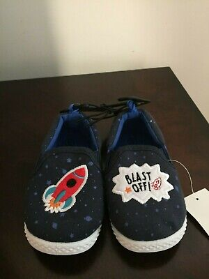 BRAND NEW INFANT BOYS SIZE 6 WALMART BRAND CASUAL SLIP ON SHOES - Walmart Girls Shoes