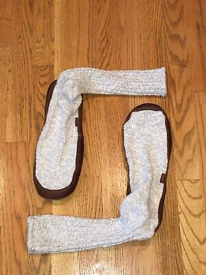 NEW WITHOUT TAGS MEN'S ACORN COTTON TWIST SLIPPER SOCKS SIZE 10 1/2 - 11 1/2