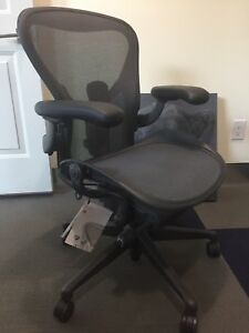 Remastered Herman Miller Aeron Size B Office Chair Fully Loaded