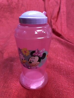 Disney Minnie Mouse Daisy Duck Sippy Cup Bottle With Straw Handle BPA FREE