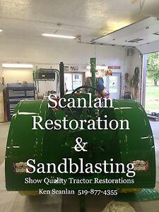 Vintage tractor restoration
