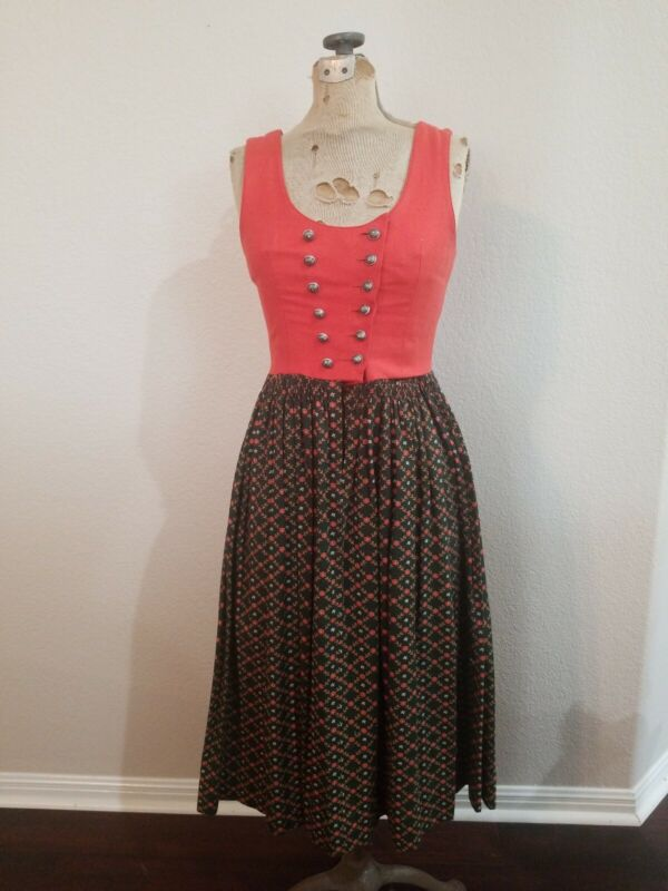 Vintage German Dirndl Oktoberfest Dress, Medium