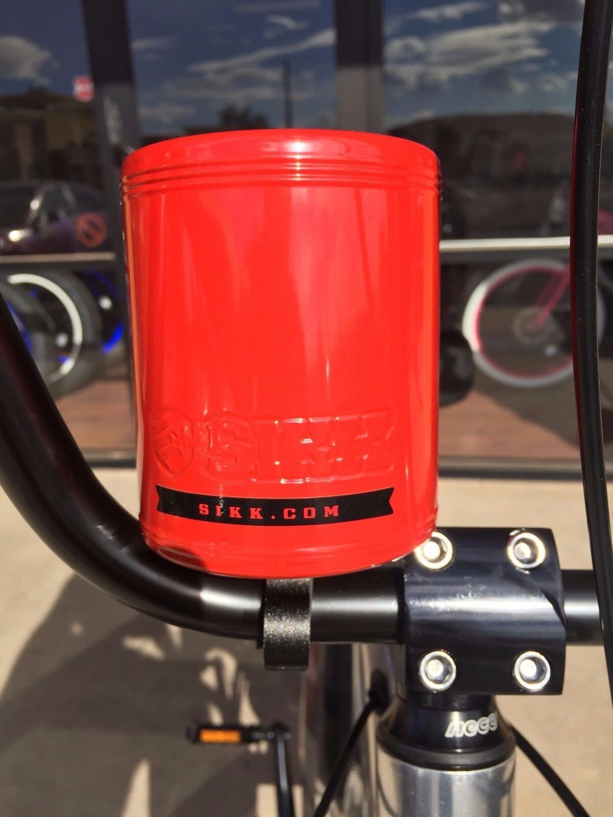 SIKK Cruiser Bicycle Stainless Steel Insulated Cup Holder PINK Beach Cruiser