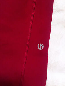 Lululemon high waisted red tight fully length -size 2