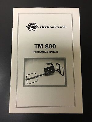 Operators Manual For Whites TM 800