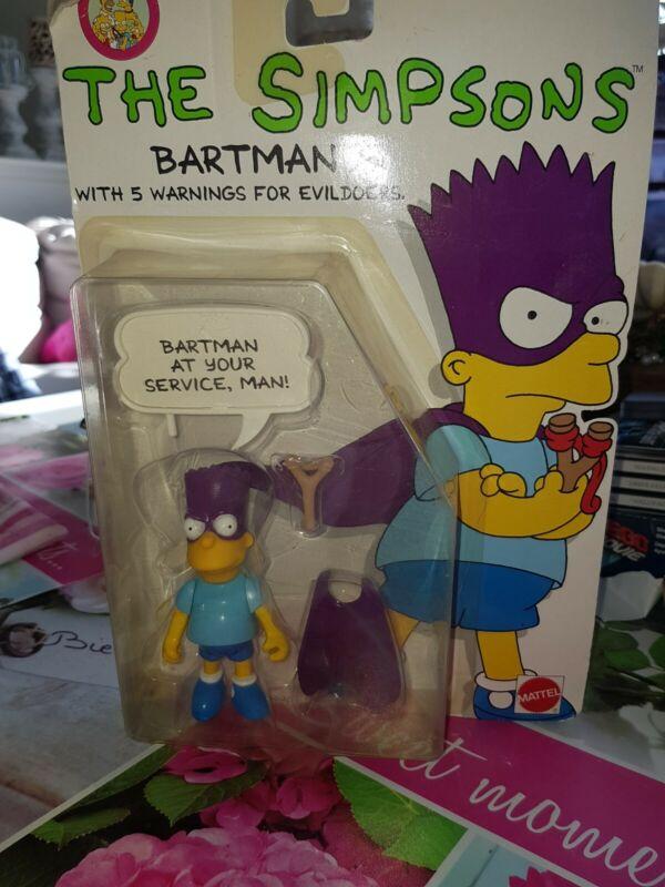 Vintage Simpsons - Bart Simpson Bartman by Mattel 1990 Action Figure - NIB