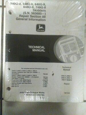 John Deere Log Skidder G-ii Series 540548gii640648748g-ii Technical Manual