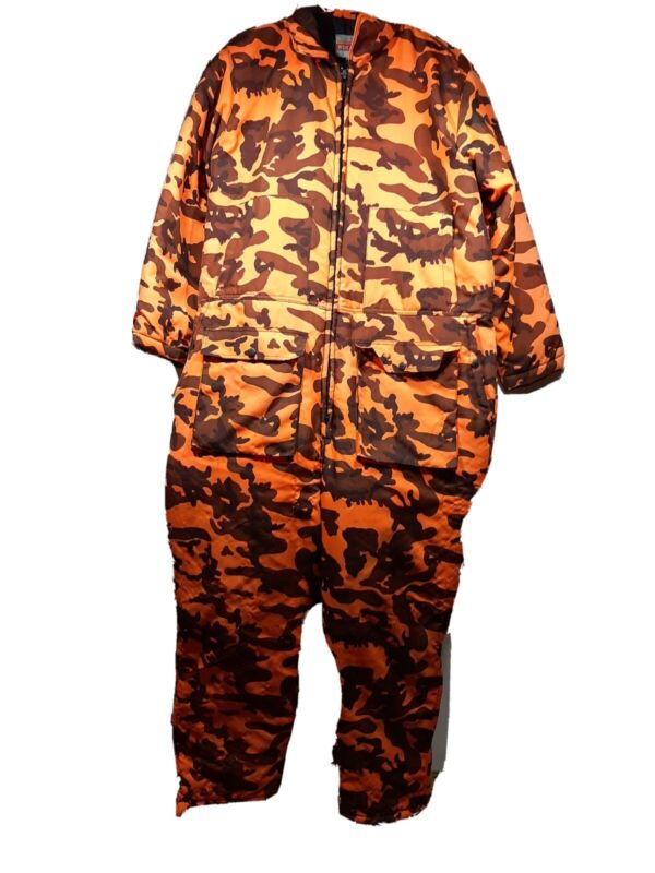 Winchester Blaze Safety Orange Camo Insulated Coveralls XL Hunting