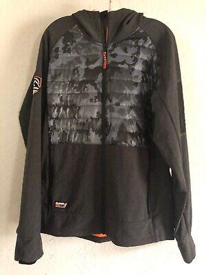 Mens SUPERDRY Mountain Soft Shell Hybrid Jacket Charcoal Camouflage Sz Medium