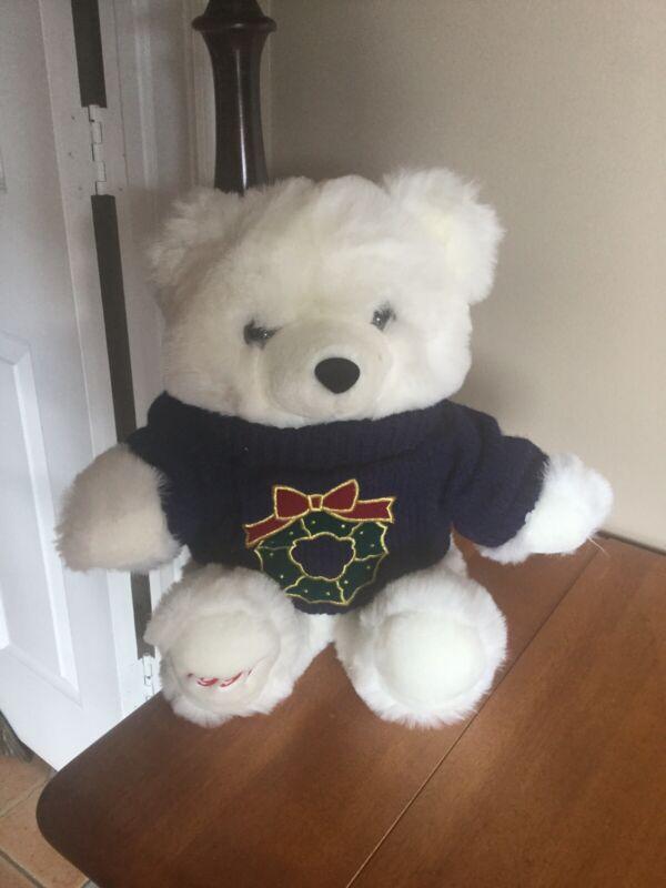 Vintage Holiday Teddy Bear