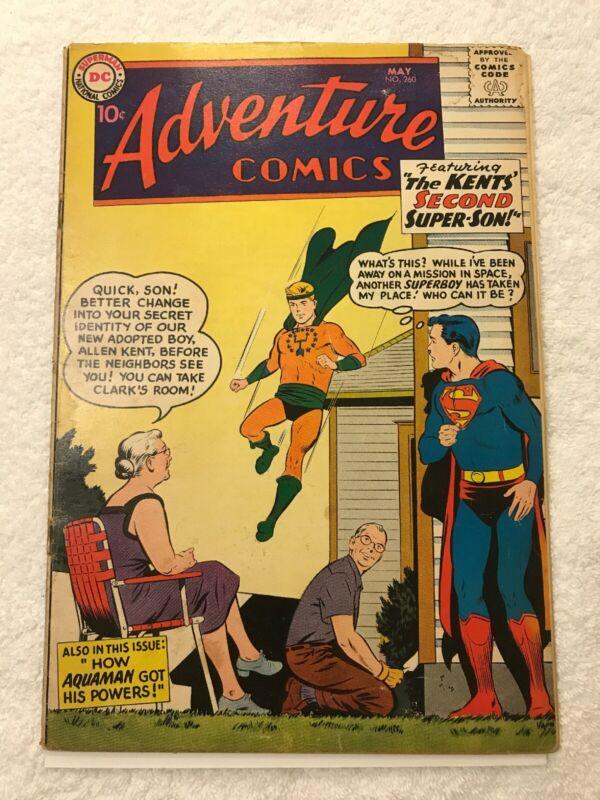 Adventure Comics #260 Origin of Aquaman GD/VG