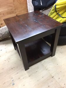 Coffee and end table, real wood, walnut color